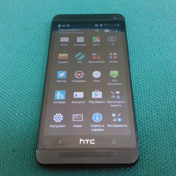 Смартфон  HTC One m7 (pn07110) (розовая камера)