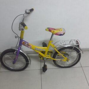 Дитячий Велосипед Жовтий Рапунцель